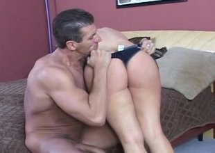 This big breasted milf is getting fucked