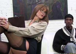 Hawt cougar Darla Crane acquires anal from large black cock
