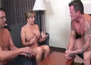 Blond Babes Boob Exposure Makes His Cock Go Large