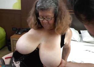 Agedlove granny with big meatballs banged