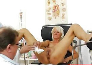 Blonde amateurs gyno exam