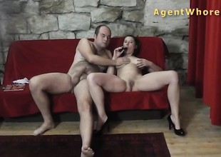 Breasty milf is enjoying with older man