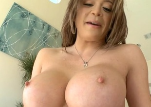 Concupiscent chick with good breasts likes to be double penetrated