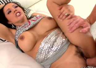 Naughty milf Francesca Le spends time with perverted man. He is drilling her cunt so well before pounding her cunt too. Pal cums into mouth of gal and gets his ass licked then.