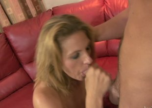 While Sierra Miller was not around, her mom Roxanne Hall took her son in law and sucked him off to show how awesome a milf is!