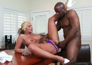Big racked blonde mom Phoenix Marie enjoys black dick