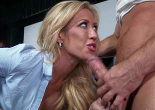 Big racked blonde milf Capri Cavali in darksome nylon nylons widens her sexy legs wide open and acquires her snatch fucked priceless and hard by horny as hell guy Johnny Castle at the bar. This big racked hot milf is dangerously horny!