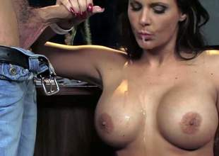 Phoenix Marie is a round titted milf bombshell with amazing body. She shows her assets and gets her tight wet hole banged hard by studly guy. He can't live without drilling her pussy from behind