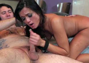CeCe Stone is a skinny raven haired asian milf. This unfaithful wife takes her lovers dick in her tight wet pussy and in her mouth with big enthusiasm. Watch her suck and fuck like mad