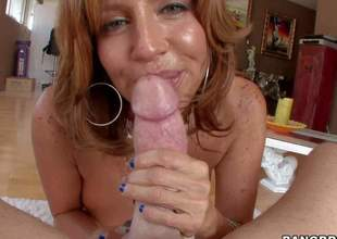 Tara Holiday is one perfect bodied mature babe. Passionate big titted milf exposes her amazing round ass and then receives her mouth filled with fat beefy cock. She gives headjob from your POV