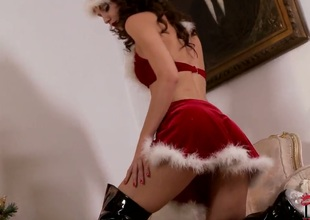 Brunette Aneta J. bares it all for your viewing fun in solo action