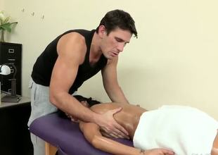 Ava Addams is a tightly-wound network executive who spends her days yelling at people over the phone. All this stress builds up and she calls for her regular masseuse to relax.