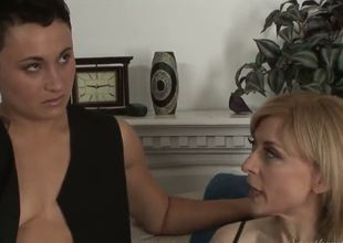 Gorgeous Nina Hartley has a new expert dyke Syd Blakovich A as her lover and they not fast begin to warm up before getting to the real business.