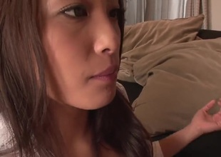 Asian amateur gives a blow job