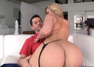 Mesmerizing blonde Alexis Texas shocks us with her huge and curvaceous sweet ass! This lady has fantastic body, thats perfect for doggystyle fucking actions because of this fantastic ass!