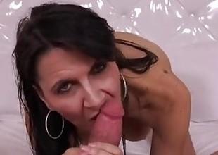Lascivious breasty MILF raw anal fucking