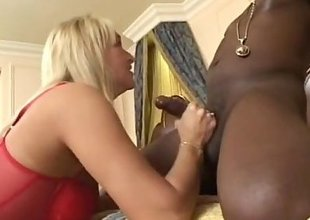 Dirty MILF takes big black cocks in all holes