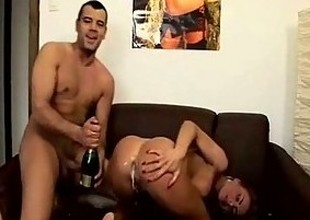 Champagne Enema Squiriting Fun