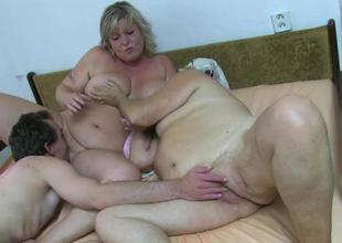 OldNanny BBW aged and Old granny with guy have n