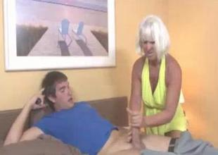 Horny Granny Gets Slutty Seeing This Guys shirt