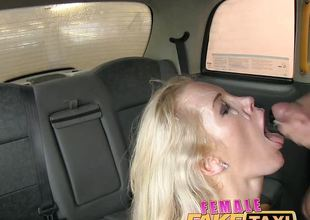 FemaleFakeTaxi Firemans surprise, gushing, huge facial