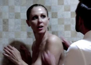 Julia Ann rammed in the shower