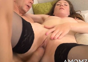 Passionate mom receives her cunt destroyed with massive cock