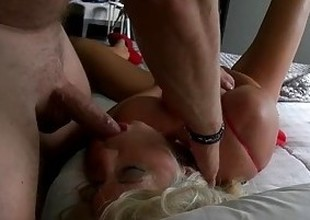 Wifey Sucks Cock While Probing Bawdy cleft