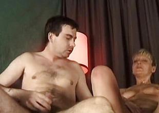 Pussy his woman fucks guy