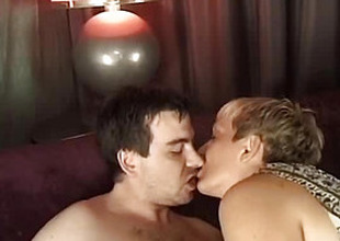 Woman in lingerie fucks with a man