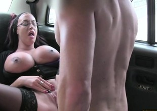 Super sexy secretary receives banged hard