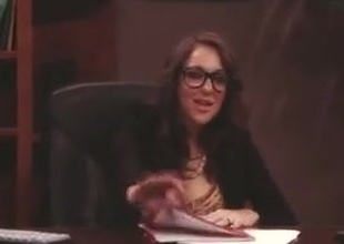 Breasty Lady Fucked On Desk