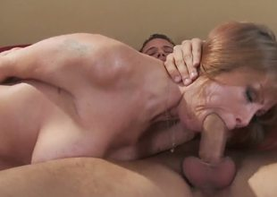Big-titted slut Darla Krane is making out with her good old friend Danny Mountain. Action finishes with his gigantic dick in her pussy and a sweet indeed orgasm! So damn hot!