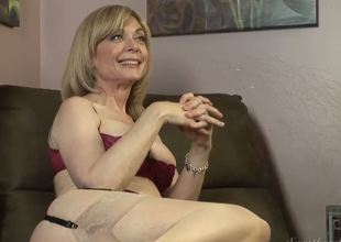 Dia Lewa is about to experience some really kinky and hot lesbo love and her instructor to be Nina Hartley explains what she's going to do to her.