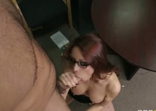 While that floozy is reading book, her muscular boyfriend and making a sloppy cunnilingus to her pussy, her name is Monique Alexander and that red head is getting nasty pleasure!