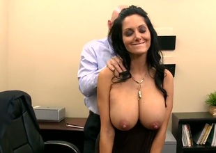 Ava Addams wants to work in Johnnys company, but for that she needs to pass his small test. Johnny begins with a sensitive massage and then begins licking her nipples. Have a fun