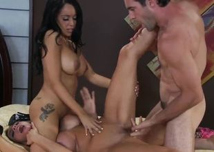 The luxurious big titted milfs Ariella Ferrera and Breanna Sparks are looking for the new emotions so they plunge into the wild threesome fucking with lucky Charles Dera