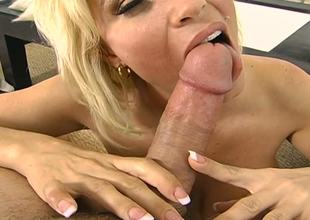 The sexy blonde milf Diamond Foxxx needs the horny act with the large and hard cock and she takes it gently into the arms and then slowly covers with the avid mouth