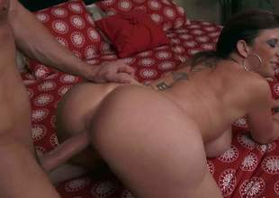 Sara Jay is a sex obsessed lovely mature woman with perfect huge tits and bubble butt. She asks Preston Parker to fix her water heater and to fuck her pussy as hard as possible. This chab bangs hot bodied milf with wild desire