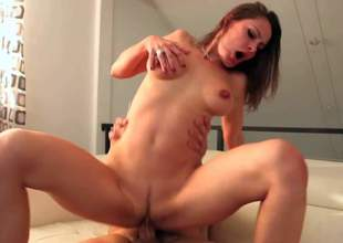 Nora Noir is a good looking horny slim milf with long legs and nice boobies. She shows off her lovely body as she receives her nicely trimmed pussy drilled by horny boy