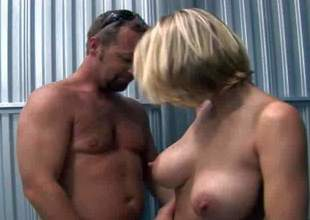 Serena is a naughty fair-haired sexy milf with juicy boobs. That babe strips down to her string thong i front of him. He touches her adorable bazookas and then she takes his strapon in her hawt mouth. Watch sexy MILF go at it