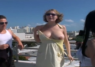 Blonde hussy is on the edge of nirvana with guys rock solid fuck stick in hands