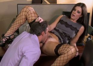 Irresistible milf India Summer is lovely her colleague in the office and they look more than hot and arousing in this fantastic and kinky hardcore scene.