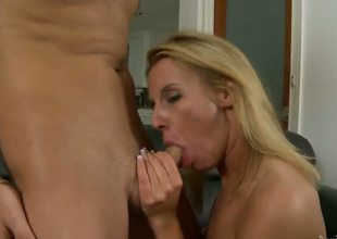 Kris Slater didnt know how lucky he was when his dad married the biggest tramp in town Taylor Jo. Cock addicted blonde milf didnt wait long to suck her stepsons stiff cock...