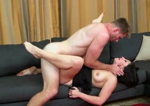 Pink pussy MILF with hot tits gets nailed