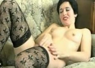 Hot MILF playing with herself