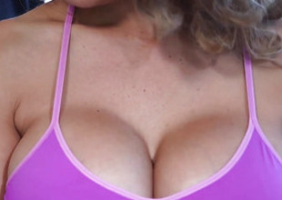 Busty milf cocksucking before getting facial