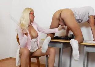 Milf fuck teacher showing relentless lust