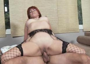 Mama groans with joy getting fingered and pounded