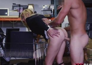 Golden-haired milf smashed by pawn man for cash